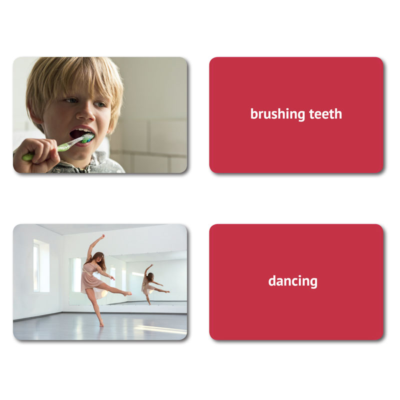 how to use picture flashcards