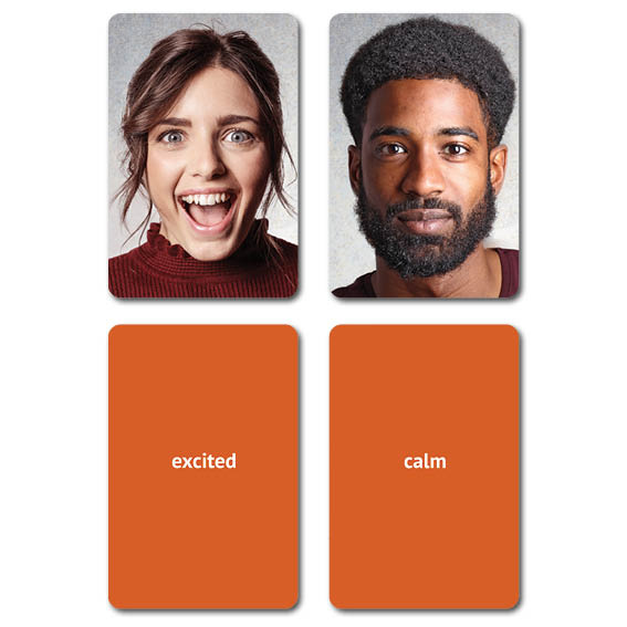 Learn With Emotion Faces Flashcards