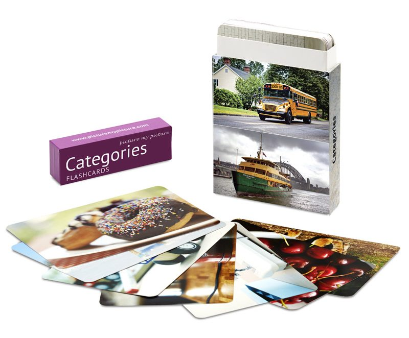 categories flashcards box
