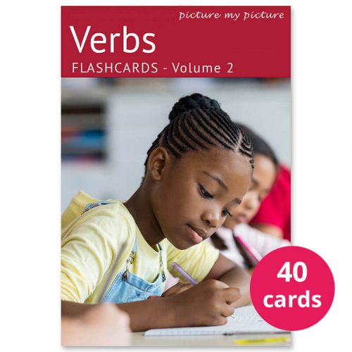 verbs with pictures flashcards